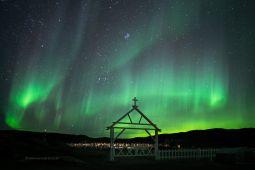 Polarlicht-Groenland-Friedhof-Groenland-Fotoreise